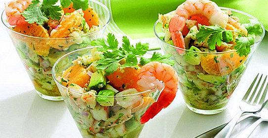 Оливье с креветками рецепт с фото