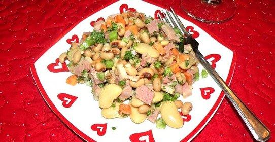 Рецепты салатов с бобами пошагово