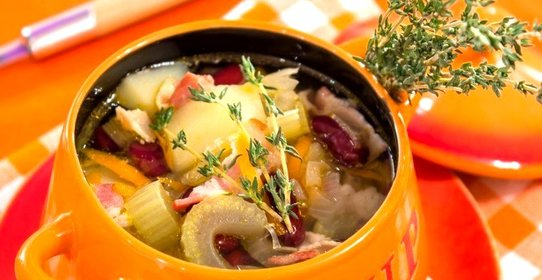 Суп с фасолью и сельдереем рецепт