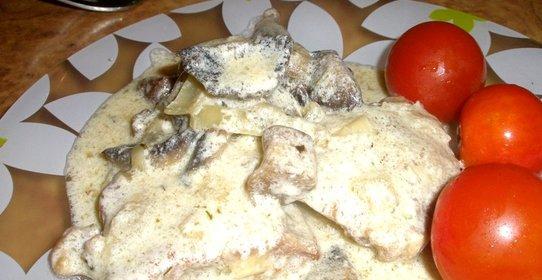Телятина с грибами рецепт