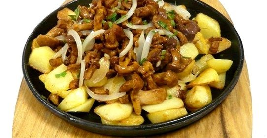 Как сделать вкусную жареную картошку с грибами