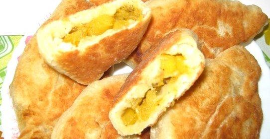 пирожки жареные с тыквой рецепт с фото