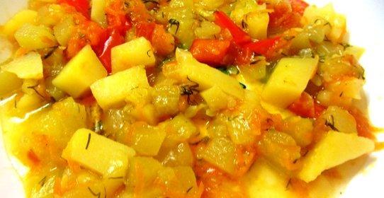 Овощное рагу с картофелем рецепт с фото
