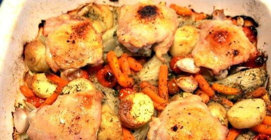 Жареные овощи в духовке рецепт с фото