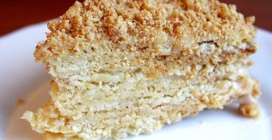Рецепт торта наполеон в домашних условиях со сгущенкой