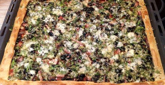 Бездрожжевая пицца пошаговый рецепт с фото